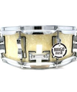 Ludwig Classic Maple 14x5 R LS401 Vintage White Marine Pearl Drum Drums Drumsnare Snare Snaredrum Rullante