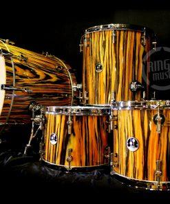 Sonor Delite Maple Tiger Stripe Lacquer Drum Drums Drumset Batteria