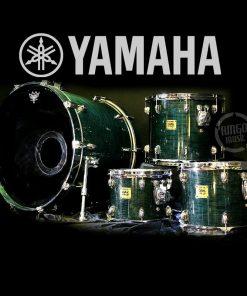 Yamaha Oak Custom Blue Ridge Lacquer Drum Drums Drumset Batteria