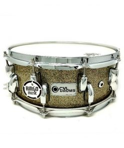 CVL Drums Snare 14x5.5 Faggio Yellow Red Sparkle Drum Snaredrum Batteria Rullante
