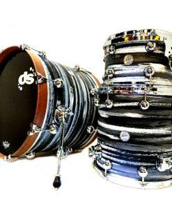 DS Drum Rebel 22 Custom Shop Urban Grey White Black SS Drum Drums