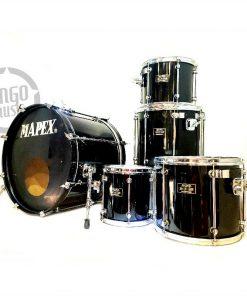 Mapex Mars Pro Series 22 Black Lacquer Drum Drums Batteria