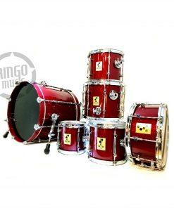 Sonor 3000 Birch 20 Red Crimson Drum Drums Batteria