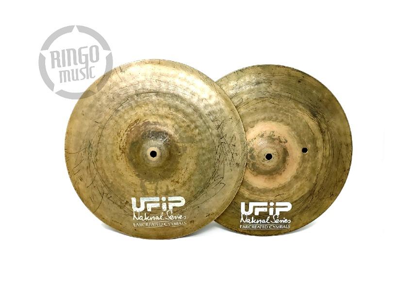 Ufip Natural Series Hi-Hat 14 Cymbal Cymbals Piatto Piatti Drum Drums Batteria