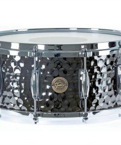 "Gretsch Hammered Black Steel 14x6.5"" S1-6514-BSH snare snaredrum rullante drumsnare"