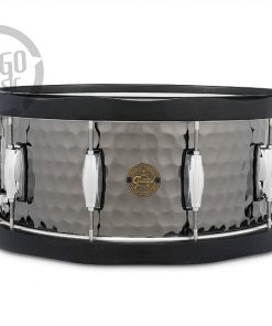 "Gretsch Hammered Black Steel 14x6.5"" S1-6514WH-BSH snare snaredrum rullante drumsnare"