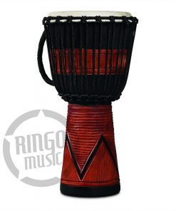 LP Latin Percussion LP713MB World Beat Wood Art Medium Djembe Black Brown Percussioni percussione