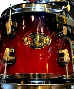 Ludwig Epic Maple Birch 24 deep red lacquer drum drums drumset batteria