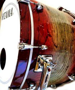 Tama Star 22 Garnet Japanese Sen Burst Lacquer Walnut Drum Drums Batteria Drumkit