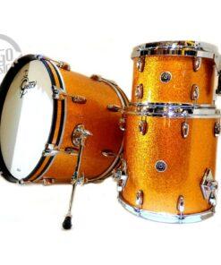 Gretsch Brooklyn 22 Maple Poplar Acero Pioppo USA Gold Sparkle Drum Drums Drumkit Batteria GB-E403