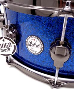 DrumSound DS Rebel All Birch 14x6.5_ Blue Sparkle Lacquer Snare Drumsnare Snaredrum Rullante