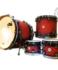 "DrumSound DS Rebel All Birch 22"" Chilli Red Burst SS 4pz Drums Drumset Batteria"