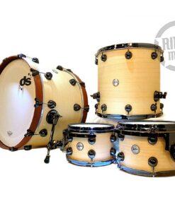 """DrumSound DS Rebel Maple/Koto 22"""" Natural Drums Drumset Batteria"""