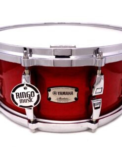 Yamaha Absolute Hybrid Maple 14x6 Red Drum Drums Batteria Snaredrum Rullante