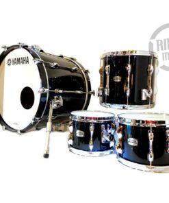 Yamaha Recording Custom Birch Betulla 20 Solid Black Drum Drums Batteria