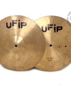 Ufip Hi-Hat 14 Flat bottom Cymbal Cymbals Piatto Piatti Drum Drums Batteria