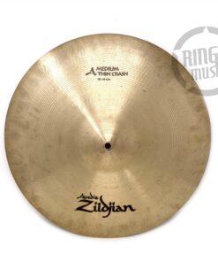 Zildjian A Medium Thin Crash 18 Cymbal Cymbals Piatto Piatti Drum Drums Batteria
