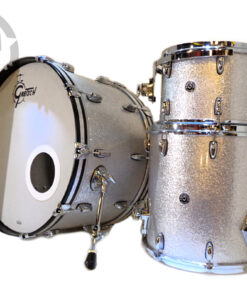 "Gretsch Brooklyn 24"" Silver Sparkle 3pz GB-R443 USA Drum Drums Drumset Batteria"