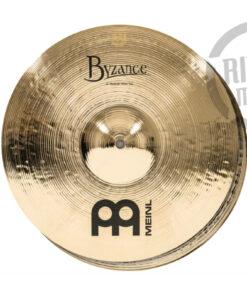 """Meinl Byzance Brilliant Medium Hi-hat 14"""" B14MH-B Cymbals Cymbal Piatto Piatti"""