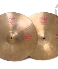 "Paiste 2002 Hi-hat 14"" 1983 Vintage Piatto Piatti Cymbal Cymbals drum drums batteria"