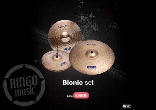 """Ufip Bionic Set 16""""/20""""/14"""" + Borsa professionale omaggio piatti piatto cymbal cymbals"""