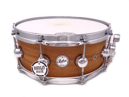 """DrumSound DS Rebel All Mahogany 14x5.5"""" Natural Snare Drumsnare Snaredrum Rullante"""