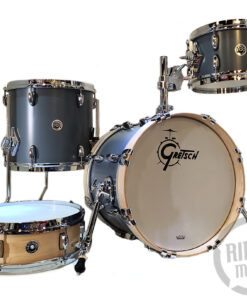 "Gretsch Brooklyn Micro Satin Grey 16"" GB-M264-SG 4pz USA Drum Drums Drumset Batteria"