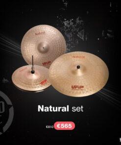 """Ufip Natural Set 16""""/20""""/14"""" + Borsa professionale omaggio piatti piatto cymbal cymbals"""