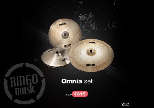 """Ufip Omnia Set 16""""/20""""/14"""" + Borsa professionale omaggio piatti piatto cymbal cymbals"""
