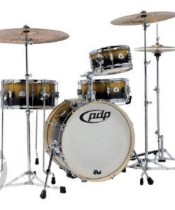 """PDP New Yorker Daru Jones 18"""" Yellow to Black Sparkle Fade rullante snare drum drumset drums batteria"""