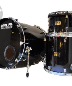 "Pork Pie Usa Custom Maple 22"" Black 3pz Made In Usa snare snaredrum rullante"