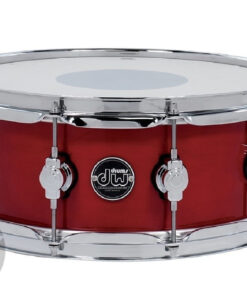 DW Performance Lacquer Maple 14x5.5_ Cherry Stain Made In Usa Snare Snaredrum Rullante
