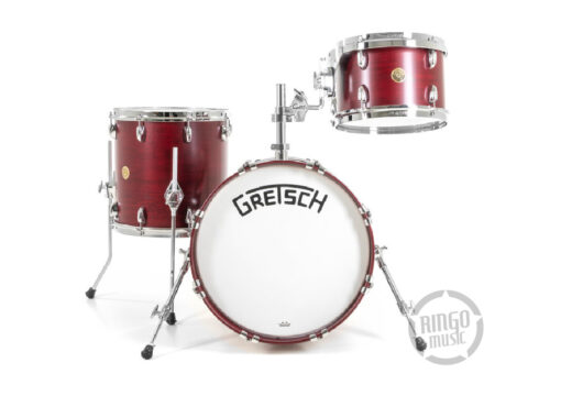 Gretsch Broadkaster 18 3pz Satin Rosewood bass drum with tom holder