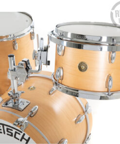 Gretsch Broadkaster Satin Natural 18 3pz drums drumset batteria acero pioppo usa