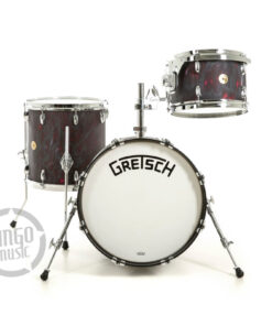 Gretsch Broadkaster USA Series 18 black satin flame Standard Hardware drum batteria drumset acero pioppo maple poplar