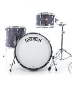 Gretsch Broadkaster USA Series 22 black satin flame Standard Hardware drum batteria drumset acero pioppo maple poplar