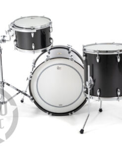 "Gretsch Usa Custom Black Metallic Gloss 20"" 3pz Drum Drums Drumset Maple Batteria"