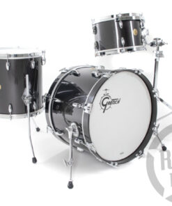Gretsch Usa Custom Black Metallic Gloss 20_ 3pz Drum Drums Drumset Maple Batteria