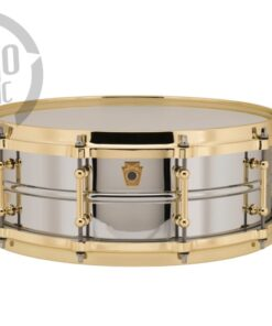 Ludwig LB400BBTWM 14x5 Chrome Over Brass Die Cast Gold Chromed plated smooth shell snare snaredrum rullante drumsnare