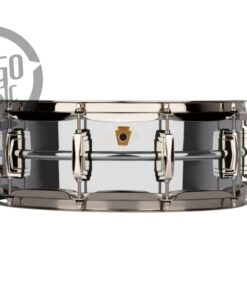 Ludwig Super Series LB400BN 14x5 Brass Chromed Black Nickel plated smooth shell snare snaredrum rullante drumsnare