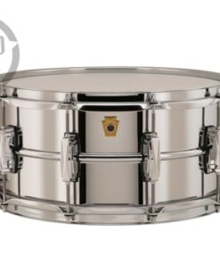 Ludwig LB402B 14x6.5 Chrome Over Brass Chromed plated smooth shell snare snaredrum rullante drumsnare