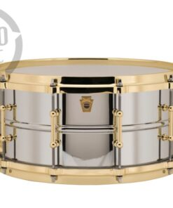Ludwig LB402BBTWM 14x6.5 Chrome Over Brass Die Cast Gold Chromed plated smooth shell snare snaredrum rullante drumsnare
