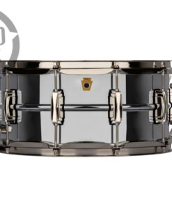Ludwig Super Series LB402BN 14x6.5 Brass Chromed Black Nickel plated smooth shell snare snaredrum rullante drumsnare