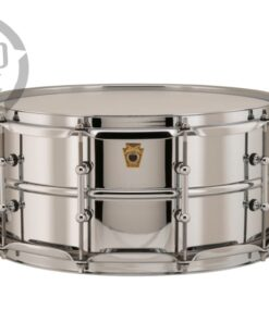 Ludwig LB402BT 14x6.5 Chrome Over Brass Chromed plated smooth shell snare snaredrum rullante drumsnare