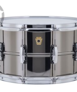 Ludwig Black Beauty LB408 14x8 Brass Black Nickel plated smooth shell snare snaredrum rullante drumsnare