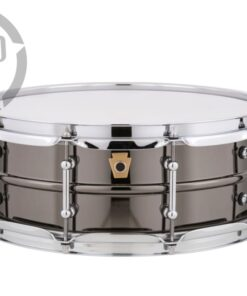 Ludwig Black Beauty LB416T 14x5 Brass Black Nickel tube lugs plated smooth shell snare snaredrum rullante drumsnare