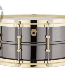 Ludwig Black Beauty LB417BT 14x6.5 Gold Die Cast Brass Black Nickel tube lugs plated smooth shell snare snaredrum rullante drumsnare