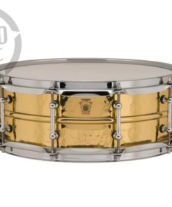 "Ludwig Hammered Brass 14x5"" LB420BKT Tube Lugs Black Nickel plated hammered shell snare snaredrum rullante drumsnare"