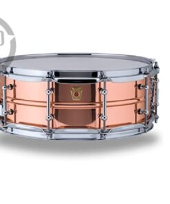 "Ludwig Copper Phonic Copperphonic 14x5"" LC660T tube lugs smooth shell snare snaredrum rullante drumsnare"