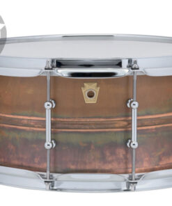 "Ludwig Raw Copper Phonic Copperphonic 14x6.5"" LC663T tube lugs smooth shell snare snaredrum rullante drumsnare"